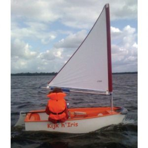 Optiparts Tri Sail met Mast en Giek