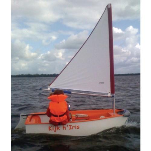 Optiparts Tri Sail met Mast en Giek